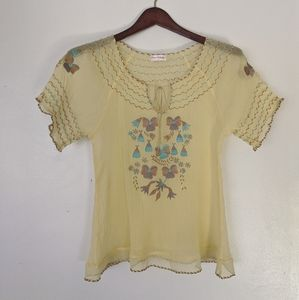 Early 2000s Miss Selfridge see through blouse